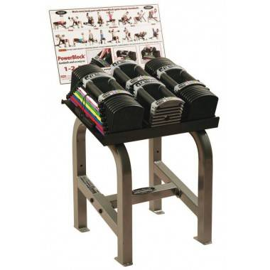 Hantle regulowane PowerBlock U-90 Commercial Series 2 x 40 kg ze stojakiem,producent: POWER BLOCK, photo: 5