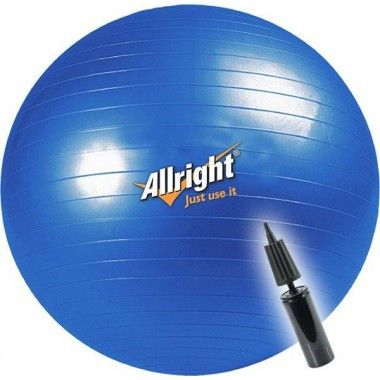 Piłka gimnastyczna gładka 75 cm ALLRIGHT niebieska,producent: ALLRIGHT, photo: 1