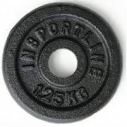 Obciążenie żeliwne Insportline 1,25kg | 31mm | czarne Insportline - 1 | klubfitness.pl