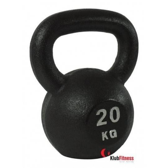 Hantla żeliwna BODYSOLID KETTLEBELL 20kg czarna Body-Solid - 1 | klubfitness.pl | sprzęt sportowy sport equipment