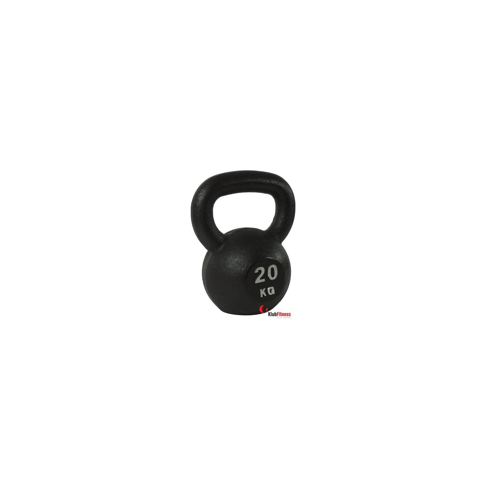 Hantla żeliwna BODYSOLID KETTLEBELL 20kg czarna,producent: BODY-SOLID, photo: 1