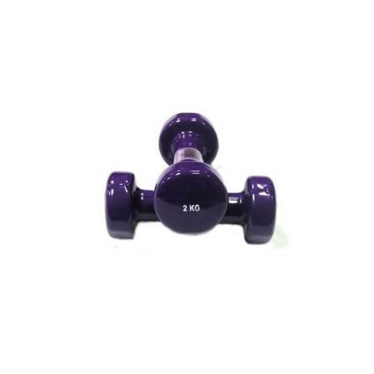 Hantla fitness winylowa 2kg ENERGETIC BODY fioletowa,producent: , photo: 1