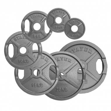 Obciążenie żeliwne olimpijskie Stayer Sport  1,25 - 25 kg,producent: STAYER SPORT, photo: 2