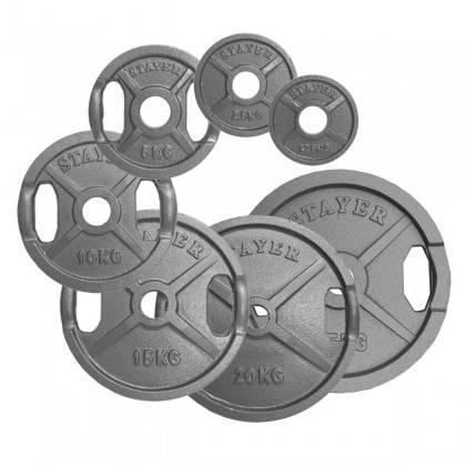 Obciążenie żeliwne olimpijskie Stayer Sport  1,25 - 25 kg,producent: STAYER SPORT, photo: 1