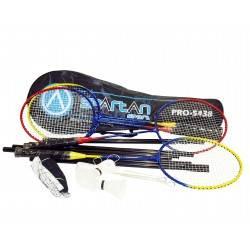 Zestaw do badmintona Spartan Sport PRO-5438 | 4 rakiety siatka torba lotki SPARTAN SPORT - 1 | klubfitness.pl