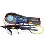 Zestaw do badmintona Spartan Sport PRO-5438   4 rakiety siatka torba lotki SPARTAN SPORT - 1   klubfitness.pl