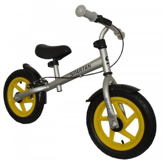 Rowerek biegowy Spartan Sport srebrny | pompowane koła 12'',producent: SPARTAN SPORT, zdjecie photo: 1 | online shop klubfitness