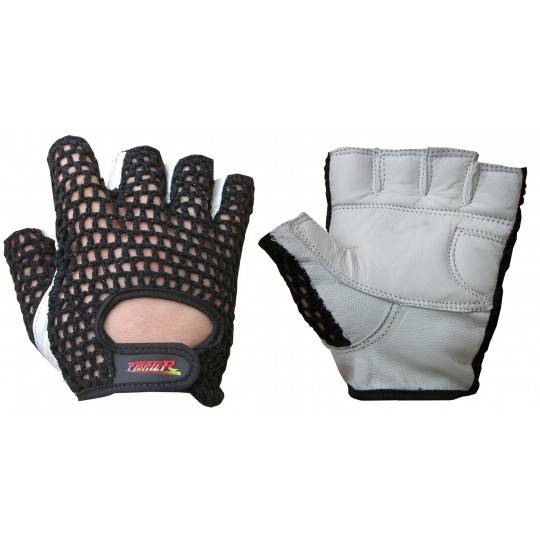 Rękawiczki skórzane treningowe FIGHTER plecionka 3 kolory,producent: FIGHTER, zdjecie photo: 2 | online shop klubfitness.pl | sp