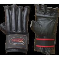 Rękawice do MMA wciągane ze ściągaczem FIGHTER BLACK 3048 FIGHTER - 1 | klubfitness.pl
