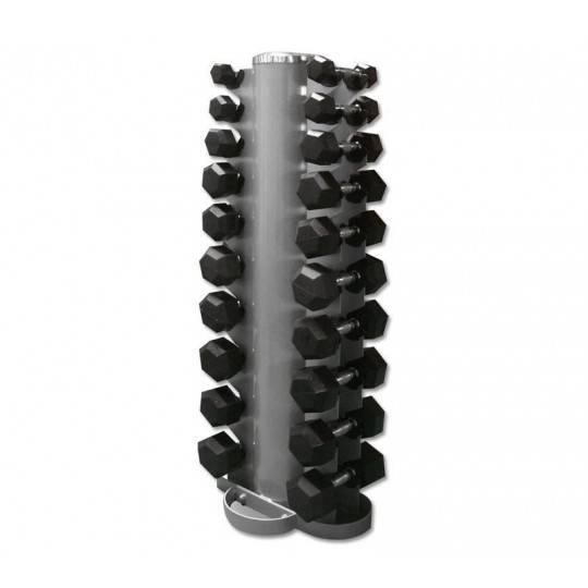Zestaw hantli gumowanych Hex ze stojakiem 1-10 kg co 1 kg,producent: Stayer Sport, zdjecie photo: 1 | online shop klubfitness.pl