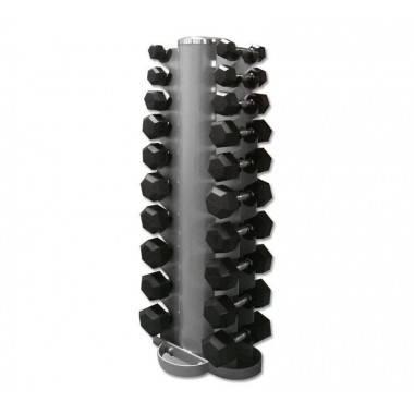 Zestaw hantli gumowanych Hex ze stojakiem 1-10 kg co 1 kg,producent: STAYER SPORT, photo: 2