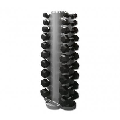 Zestaw hantli gumowanych Hex ze stojakiem 1-10 kg co 1 kg,producent: Stayer Sport, zdjecie photo: 2 | online shop klubfitness.pl