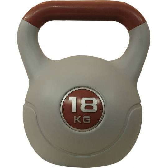 Hantla winylowa kettlebell STAYER SPORT VIN-KET 18kg brązowa,producent: Stayer Sport, zdjecie photo: 1 | online shop klubfitness