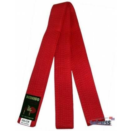 Pas do kimona Bushindo | czerwony | długość 220cm - 280cm Bushindo - 2 | klubfitness.pl