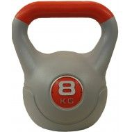 Hantla winylowa kettlebell STAYER SPORT VIN-KET 8 kg pomarańczowa,producent: STAYER SPORT, photo: 1