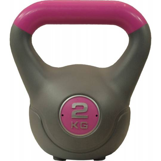 Hantla winylowa kettlebell STAYER SPORT VIN-KET 2kg różowa,producent: STAYER SPORT, photo: 1