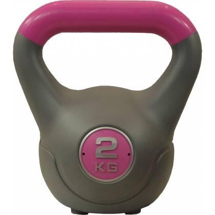 Hantla winylowa kettlebell STAYER SPORT VIN-KET 2kg różowa Stayer Sport - 1 | klubfitness.pl