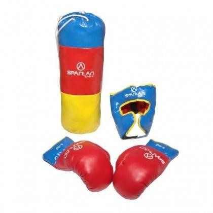 Zestaw bokserski dla dzieci SPARTAN SPORT worek, rękawice 8oz, kask,producent: SPARTAN SPORT, zdjecie photo: 2 | online shop klu
