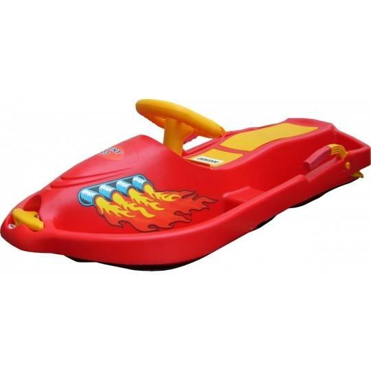 Skuter śnieżny z kierownicą dla dzieci Snow Boat czerwony NONAME - 1 | klubfitness.pl