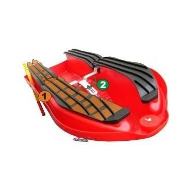 Skuter śnieżny z kierownicą SNOW BOAT czerwony z hamulcami,producent: STAYER SPORT, photo: 3