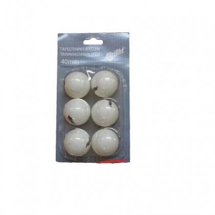 Piłeczki do tenisa stołowego ALLRIGHT białe 6 sztuk,producent: ALLRIGHT, zdjecie photo: 1 | online shop klubfitness.pl | sprzęt