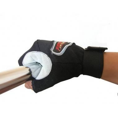 Rękawiczki kulturystyczne skórzane FIGHTER szare,producent: FIGHTER, photo: 2