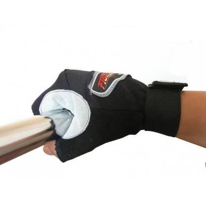 Rękawiczki kulturystyczne skórzane FIGHTER szare,producent: FIGHTER, zdjecie photo: 2 | online shop klubfitness.pl | sprzęt spor