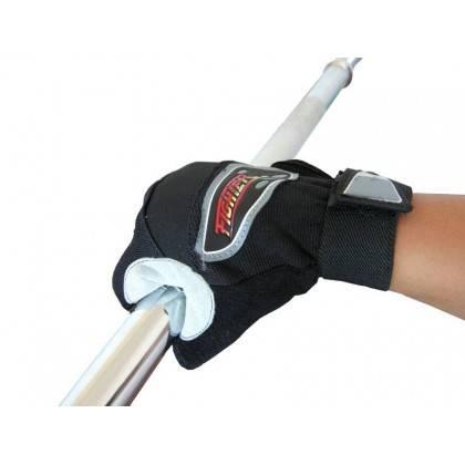 Rękawiczki kulturystyczne skórzane FIGHTER szare,producent: FIGHTER, photo: 3
