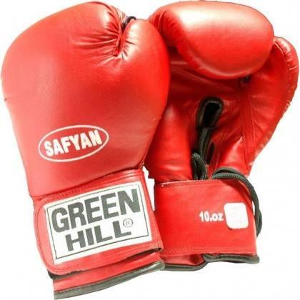 Rękawice bokserskie Green Hill Safyan 10oz | czerwone,producent: GREEN HILL, zdjecie photo: 2 | online shop klubfitness.pl | spr