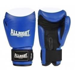 Rękawice bokserskie niebieskie 14oz Allright | skóra naturalna ALLRIGHT - 1 | klubfitness.pl