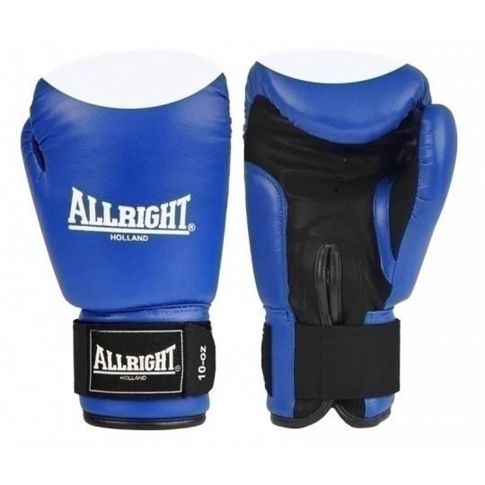 Rękawice bokserskie niebieskie 14 oz ALLRIGHT skóra naturalna,producent: , zdjecie photo: 1 | online shop klubfitness.pl | sprzę