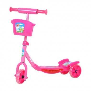Hulajnoga dziecięca trójkołowa WORKER TRI różowa,producent: WORKER, zdjecie photo: 1   online shop klubfitness.pl   sprzęt sport