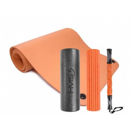 Zestaw do masażu mata i wałek 3w1 pomarańczowo- szary,producent: , photo: 1