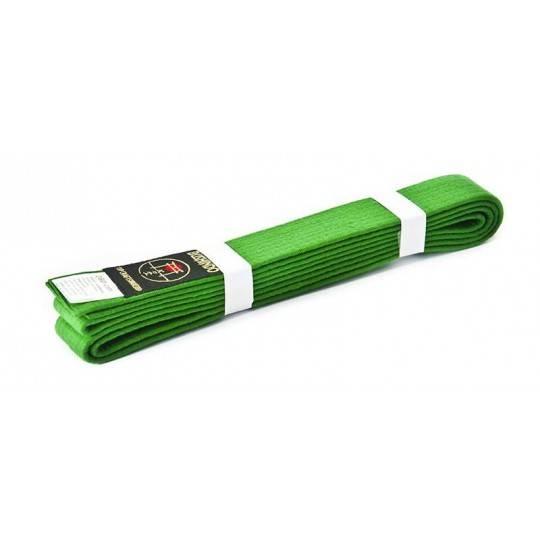 Pas do kimona Bushindo   zielony   długość 220cm - 300cm Bushindo - 1   klubfitness.pl