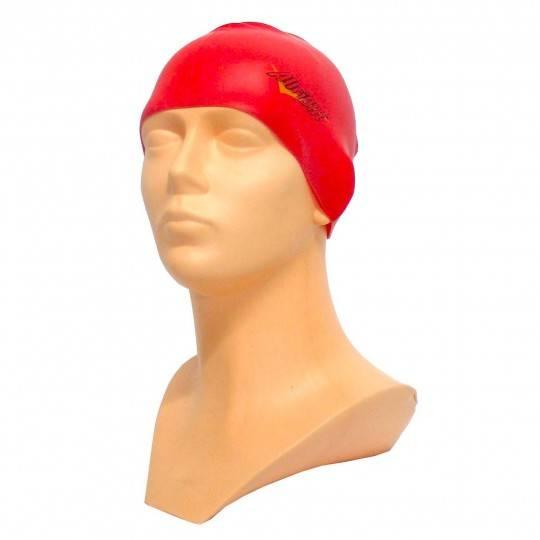 Czepek pływacki silikonowy ALLRIGHT czerwony ALLRIGHT - 1