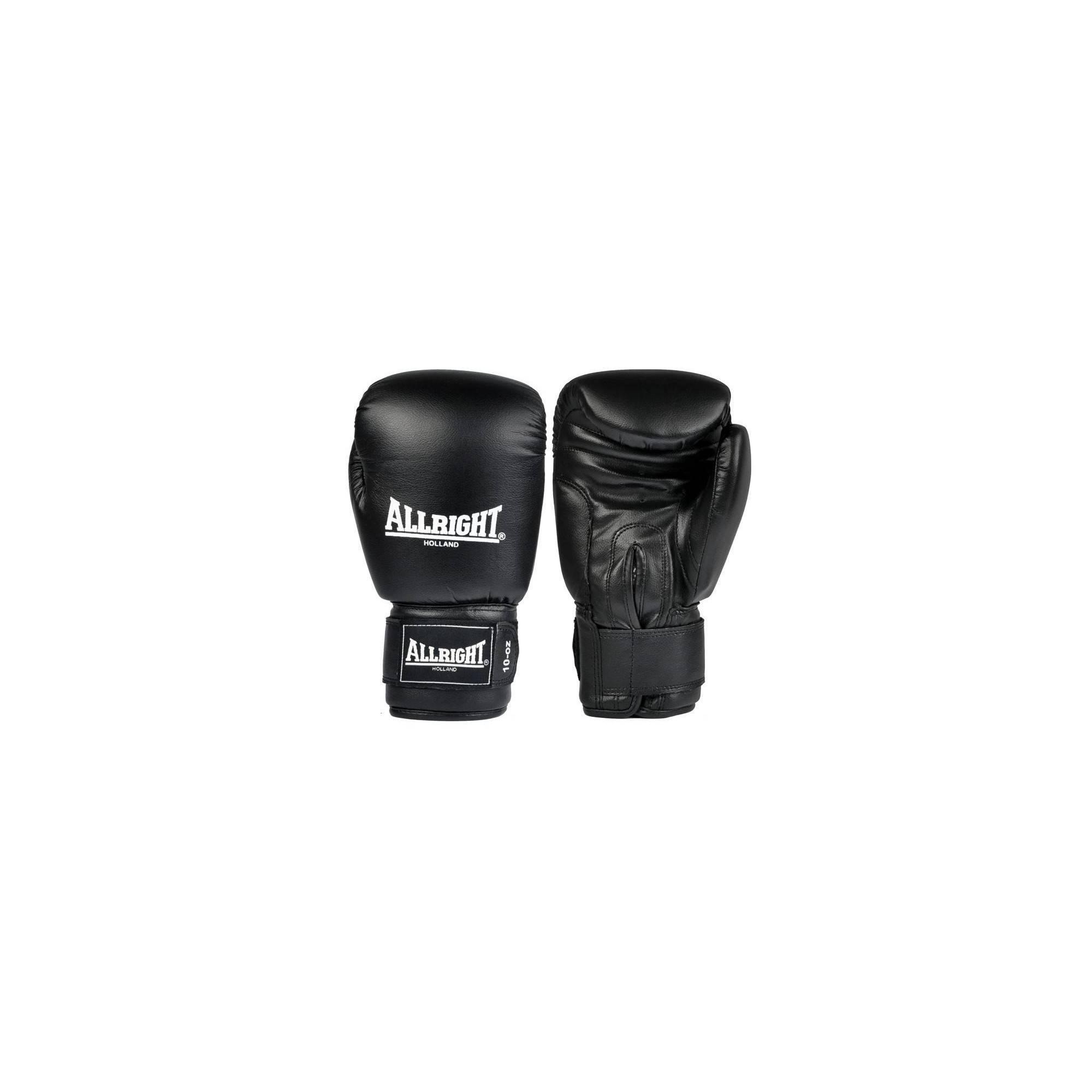 Rękawice bokserskie czarne 14oz Allright | skóra naturalna ALLRIGHT - 1 | klubfitness.pl