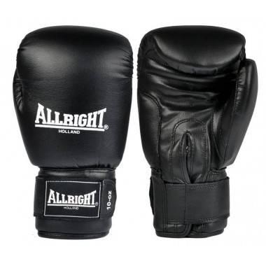 Rękawice bokserskie czarne 14oz Allright | skóra naturalna,producent: ALLRIGHT, zdjecie photo: 1 | online shop klubfitness.pl |