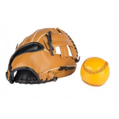 Zestaw do gry w baseball | rękawica z piłką  - 1