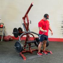 Atlas do ćwiczeń na wolne obciążenia Body-Solid GLGS100P4 czerwony Body-Solid - 4