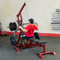 Atlas do ćwiczeń na wolne obciążenia Body-Solid GLGS100P4 czerwony,producent: Body-Solid, zdjecie photo: 7 | online shop klubfit