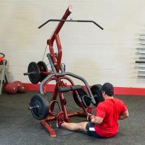 Atlas do ćwiczeń na wolne obciążenia Body-Solid GLGS100P4 czerwony,producent: Body-Solid, zdjecie photo: 8 | online shop klubfit