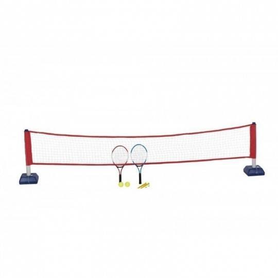 Zestaw do gry w tenisa ziemnego - siatka, dwie rakietki i dwie piłeczki NONAME - 1