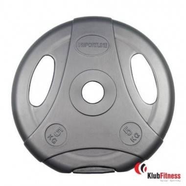 Obciążenie cementowe szare INSPORTLINE 5kg- średnica 30mm,producent: Insportline, zdjecie photo: 1 | online shop klubfitness.pl