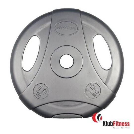 Obciążenie cementowe szare INSPORTLINE 10kg średnica 30mm,producent: Insportline, zdjecie photo: 1 | online shop klubfitness.pl