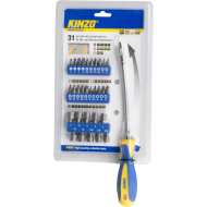 Śrubokręt wielofunkcyjny gięty Kinzo bit & socket 31el. Kinzo - 4