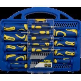 Śrubokręty magnetyczne Kinzo zestaw 34el. w skrzynce,producent: Kinzo, zdjecie photo: 1 | online shop klubfitness.pl | sprzęt sp