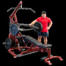Atlas do ćwiczeń na wolne obciążenia Body-Solid GLGS100P4 czerwony