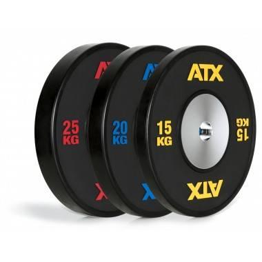 Obciążenie gumowane olimpijskie bumper ATX® 50-HQRB-B | waga: 10kg ÷ 25kg,producent: ATX, zdjecie photo: 2 | online shop klubfit
