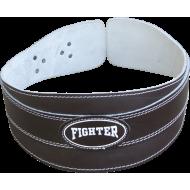 Pas kulturystyczny szeroki Fighter skórzany,producent: FIGHTER, zdjecie photo: 2