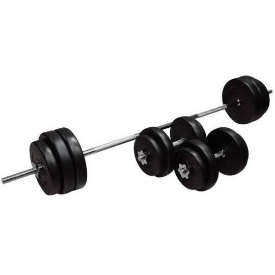 Zestaw treningowy INSPORTLINE 50kg obciążenia i gryfy,producent: INSPORTLINE, photo: 1